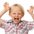 Hyperactive young boy — Stock Photo