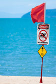 Jelly fish warning sign — Stock Photo