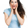 Beautiful surprised woman — Stock Photo