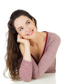 Beautiful woman looking at copy-space — Stock Photo