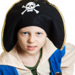 Portrait of a boy pirate — Stockfoto