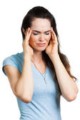 Woman suffering from migraine. — Stock Photo