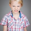 Angry young boy. — Stock Photo