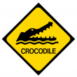 Crocodile warning sign — Stock Photo #50246341