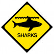Shark warning sign — Stock Photo #50246349