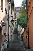 Stairs to the Warsaw Old Town — Stock Photo