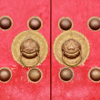 Stock Photo: Old door chinese antique