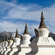 White pagodas Tibet — Stock Photo