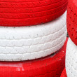 Pile red and white — Stock Photo