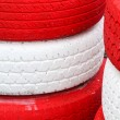 Stock Photo: Pile red and white