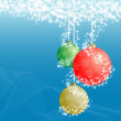 Christmas ball decorative — Stock Photo