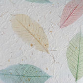 Paper with leaves — Stock Photo