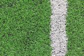 Artificial grass soccer field — Stock Photo