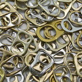 Metal ring pulls — Stock Photo