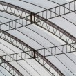 Canvas roof of stadium - Stock Photo