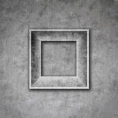 Cement photo frame wall — Stock Photo