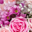 Stock Photo: Rose flowers mixed bouquet