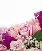 Rose flowers mixed bouquet — Stock Photo