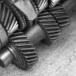 Stock Photo: Close up metal gears