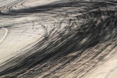Tire marks on road track — Stock Photo