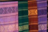 Fabrics found in a market — Stock Photo