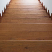 Staircase with wooden steps — Stock Photo