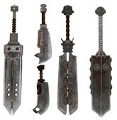 Collection of exotic swords — Stock Photo