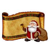 Tarjeta de felicitación de navidad con santa claus amistoso — Foto de Stock