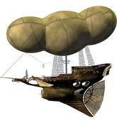 Steampunk luftschiff — Stockfoto