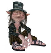 Hobo tramp leprechaun in a happy mood — Stock Photo