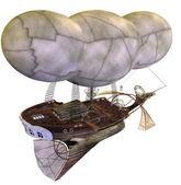 Steampunk airship — Stock Photo