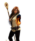 Fire sorceress — Stock Photo