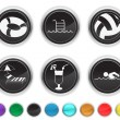 Vacation icons,each color icon is set on a different layer — Stock Vector #8731276