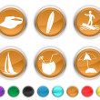 Vacation icons,each color icon is set on a different layer — Stock Vector #8731282