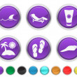 Vacation icons,each color icon is set on a different layer — Stock Vector #8731289