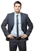 Portrait of young handsome businessman. — Stock Photo