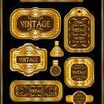 Vintage gold frame labels set. — Stock Vector