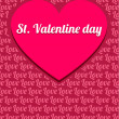 Cute Valentine Background — Vecteur #26512289