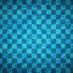 Grunge blue checkered — Stock Vector