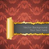 Altın kağıt ve metin için yer ile bozuk duvar kağıdı. — Stok Vektör