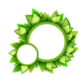 Green leaves bubble — Stock Vector