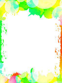 Colorful ink abstract frame background. — Stock Vector