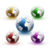 Vector globe icon of the world. — Stock Vector