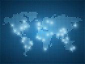 Světová mapa tečka ilustrace — Stock vektor