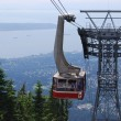 Gondola Ride to Grouse Mountain Top, North Vancouver Canada — Foto Stock