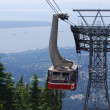 Gondola Ride to Grouse Mountain Top, North Vancouver Canada — Photo