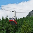 Gondola Ride to Grouse Mountain Top, North Vancouver Canada — Stock Photo