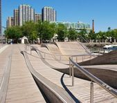 Downtown Toronto Waterfront in Canada — Stock Photo