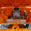 Stock Photo: 1960 Orange Chevrolet Pickup Truck Airbrushed Engine