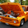 Stock Photo: 1960 Orange Chevrolet Pickup Truck Airbrushed
